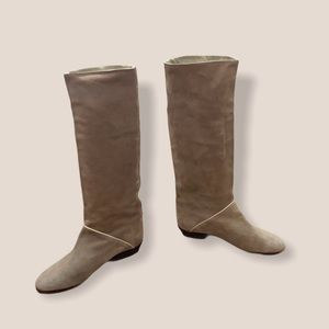 Vintage Quinto tan suede real leather boots sz 7.5